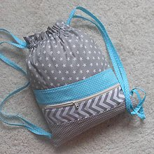 Detské tašky - Ruksak Šedo-modrý *30x36* - 9532344_