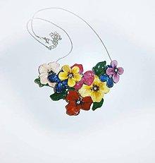 Náhrdelníky - lel,náhrdelník  flowers 77 - 9533643_