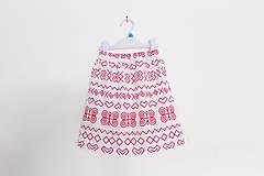 Detské oblečenie - Suknička čičmanská červená - 9532852_