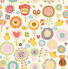 Textil - Látka s potlačou nepremokavý polyester kočárkovina TD/NS vzor 340 stredný - 9533792_