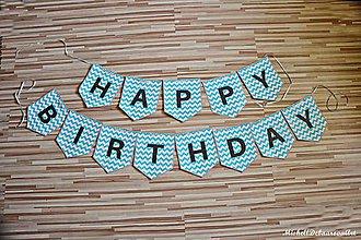 "Detské doplnky - Girlanda ""Happy birthday"" - 9534489_"