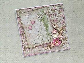 Papiernictvo - Svadobná pohľadnica - 9532129_