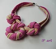 Náhrdelníky - Růžové uzlíky - náhrdelník - 9532688_