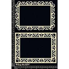 Papier - Dusty Attic - Swirl Frame - Rámy s vlnkami (lepenkové výrezy) - 9532294_