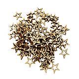 Polotovary - Výrez drevený hviezdička 2 cm - 9533458_