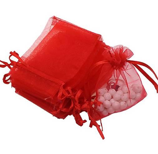 VO101 Organzové vrecúško 7 x 9 cm (červené)