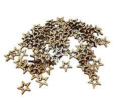 Polotovary - Výrez drevený hviezdička 1 cm - 9533450_
