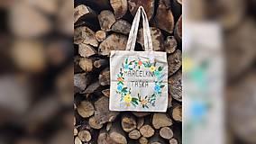 Iné tašky - ♥ Plátená, ručne maľovaná taška ♥ - 9534469_