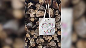 Nákupné tašky - ♥ Plátená, ručne maľovaná taška ♥ (MI24) - 9534473_