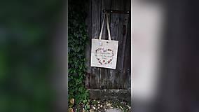 Nákupné tašky - ♥ Plátená, ručne maľovaná taška ♥ (MI24) - 9534500_