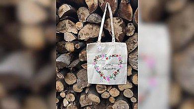 Nákupné tašky - ♥ Plátená, ručne maľovaná taška ♥ (MI25) - 9534480_