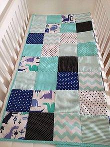 Úžitkový textil - Patchwork deka pre bábätko - 9534562_