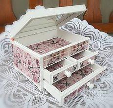 Krabičky - Romantická šperkovnica - 9533233_