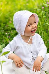 Detské čiapky - Ultraľahký čepček batist & light pink - 9532193_