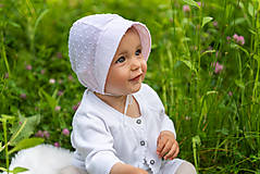 Detské čiapky - Ultraľahký čepček batist & light pink - 9532194_