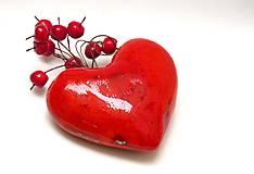 srdce červené  hrkálka