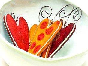 Dekorácie - srdce farebné veľké - 9532680_