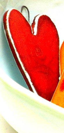 Dekorácie - srdce farebné veľké (bez vzoru) - 9532835_