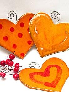 Dekorácie - srdce farebné široké - 9533043_