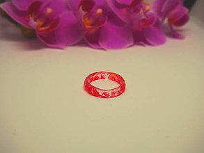 Prstene - Číry prstienok bez lôžka s ružovými trblietkami - 9534405_