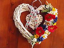- Folklorne srdce 33cm  - 9532829_