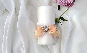 Svietidlá a sviečky - Svadobná sviečka - 9533979_