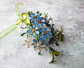Pierka - Modro - zelené pierko - 9532946_