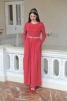 Šaty - Bodkované šaty Princess, vel. M/L - 9531828_