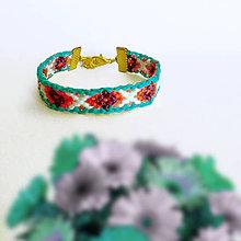 Náramky - Prekážková dráha - pletený náramok - 9534231_