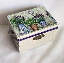 Krabičky - Skrinka na šijacie potreby - 9536915_
