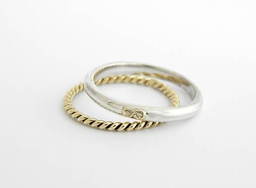 066f40852 585/14k zlatý komplet prsteňov / soamijewelry - SAShE.sk - Handmade ...