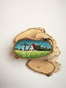 Magnetky - Inšpirované prírodou - domček a studňa - 9535439_