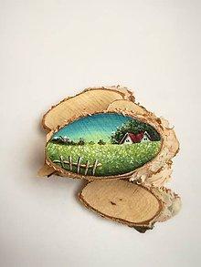 Magnetky - Inšpirované prírodou - domčeky - 9535464_