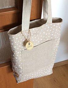 Nákupné tašky - taška s hviezdičkami - obojstranná - 9536268_