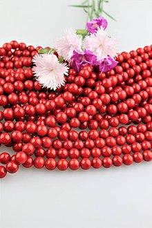 Minerály - koral červený korálky 8mm - KVALITA A! - 9535966_