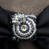 Iné doplnky - Lady black-hodvábna vyšívaná mašľa - 9535951_