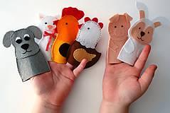 Hračky - Bábky na prsty: Domáce zvieratá - 9535519_