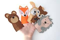 - Bábky na prsty: Lesné zvieratá - 9535677_