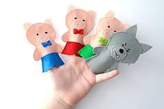 Hračky - Bábky na prsty: Tri prasiatka - 9535679_
