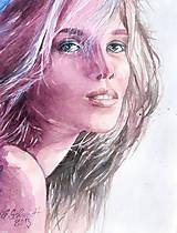 Akvarelový obraz na objednávku - jednofarebne ladený