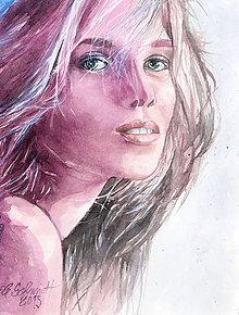 Obrazy - Akvarelový obraz na objednávku - jednofarebne ladený - 9536875_