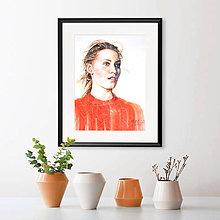 Obrazy - Akvarelový obraz na objednávku (S čiernym rámom 30x40) - 9537070_