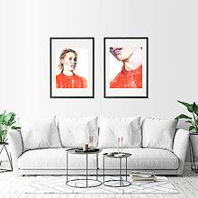 Obrazy - Akvarelový obraz na objednávku (S čiernym rámom 40x50) - 9537076_