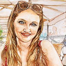Obrazy - Akvarelový obraz na objednávku (Bez rámu 30x40) - 9537192_