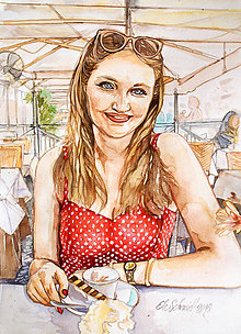 Obrazy - Akvarelový obraz na objednávku (Bez rámu 40x50) - 9537203_