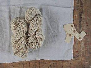 Materiál ručne robený - Biela slimáčiková, 212g - 9535963_