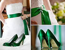 Náušnice - Náušničky ♥ WHITE & EMERALD WEDDING ♥ - 9534727_