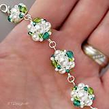 Náušnice - Náušničky ♥ WHITE & EMERALD WEDDING ♥ - 9534728_