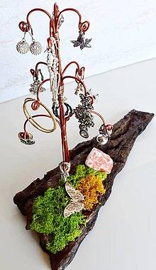 Dekorácie - Stojan na náušnice Medený stromček - 9536095_