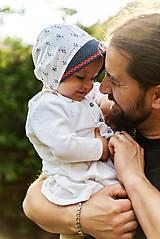 Baby čepiec kvietky & folk